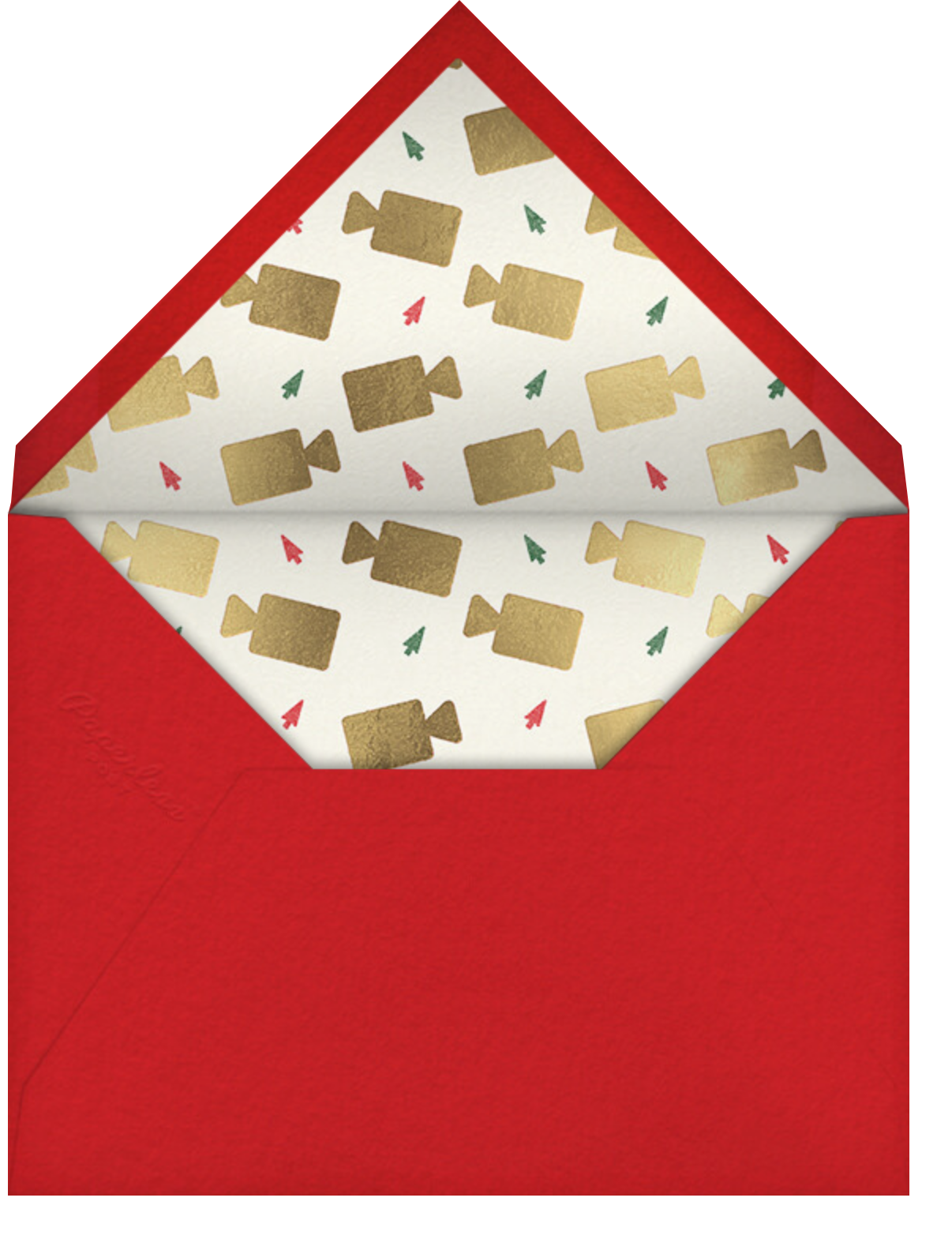 Cheerful Chat - Cream - Paperless Post - Holiday cards - envelope back