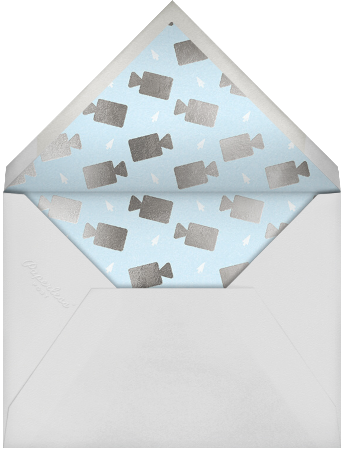 Cheerful Chat - Blue - Paperless Post - Holiday cards - envelope back