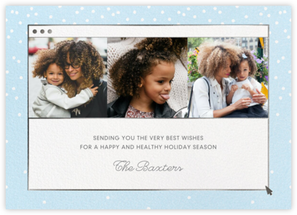 Cheerful Chat - Blue - Paperless Post - Holiday Cards