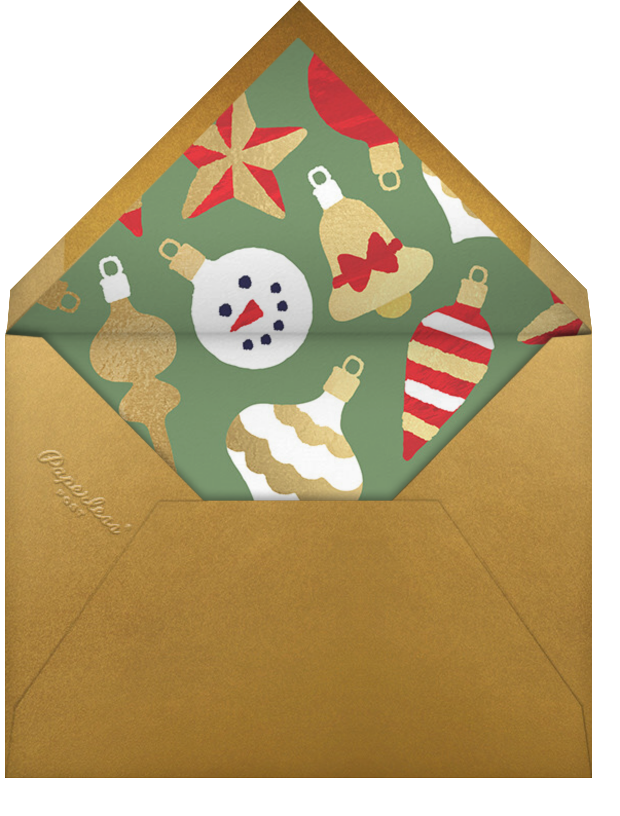 Home Screen (6 Photos) - Green - Paperless Post - Holiday cards - envelope back