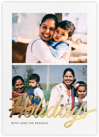 Evelina (Multi-Photo) - Happy Holidays - Paperless Post - Holiday Cards