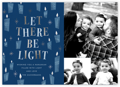 These Little Lights (3 Photos) - Hanukkah - Paperless Post - Holiday Cards