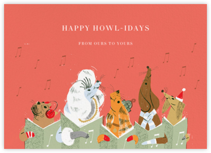 Canine Carol - Paperless Post - Holiday Cards