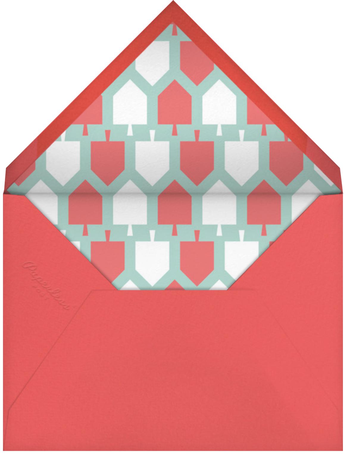 Dreidel Dreidel (5 Photos) - Paperless Post - Hanukkah - envelope back