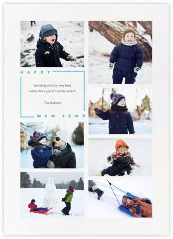 Minimalist New Year (Tall, 7 Photos) - Paperless Post -