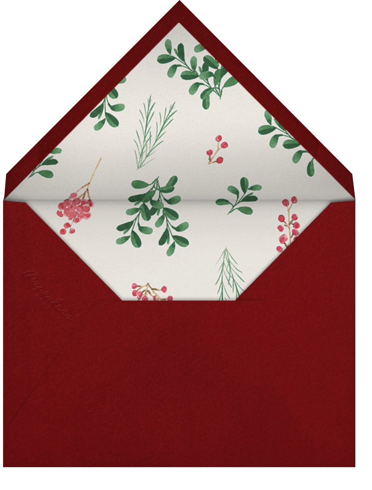 Holly Hedge (6 Photos) - Paperless Post - Holiday cards - envelope back