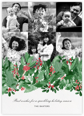 Holly Hedge (6 Photos) - Paperless Post - Holiday Cards