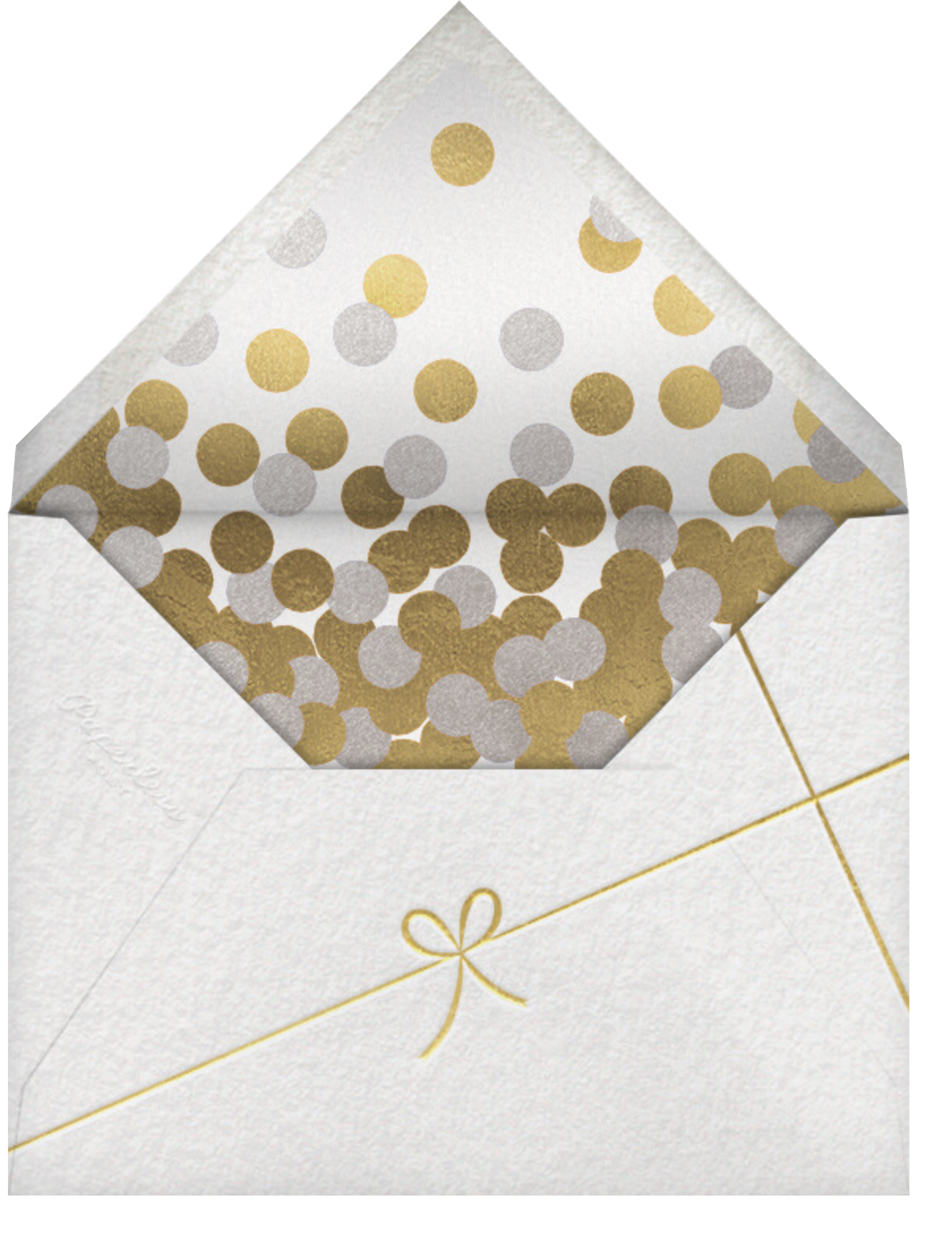 Holiday Finestra (Tall, 5 Photos) - White/Gold - Paperless Post - Holiday cards - envelope back