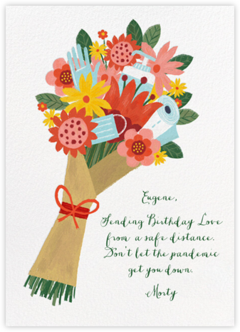 Sanitized Bouquet - White - Paperless Post - Covid greeting cards