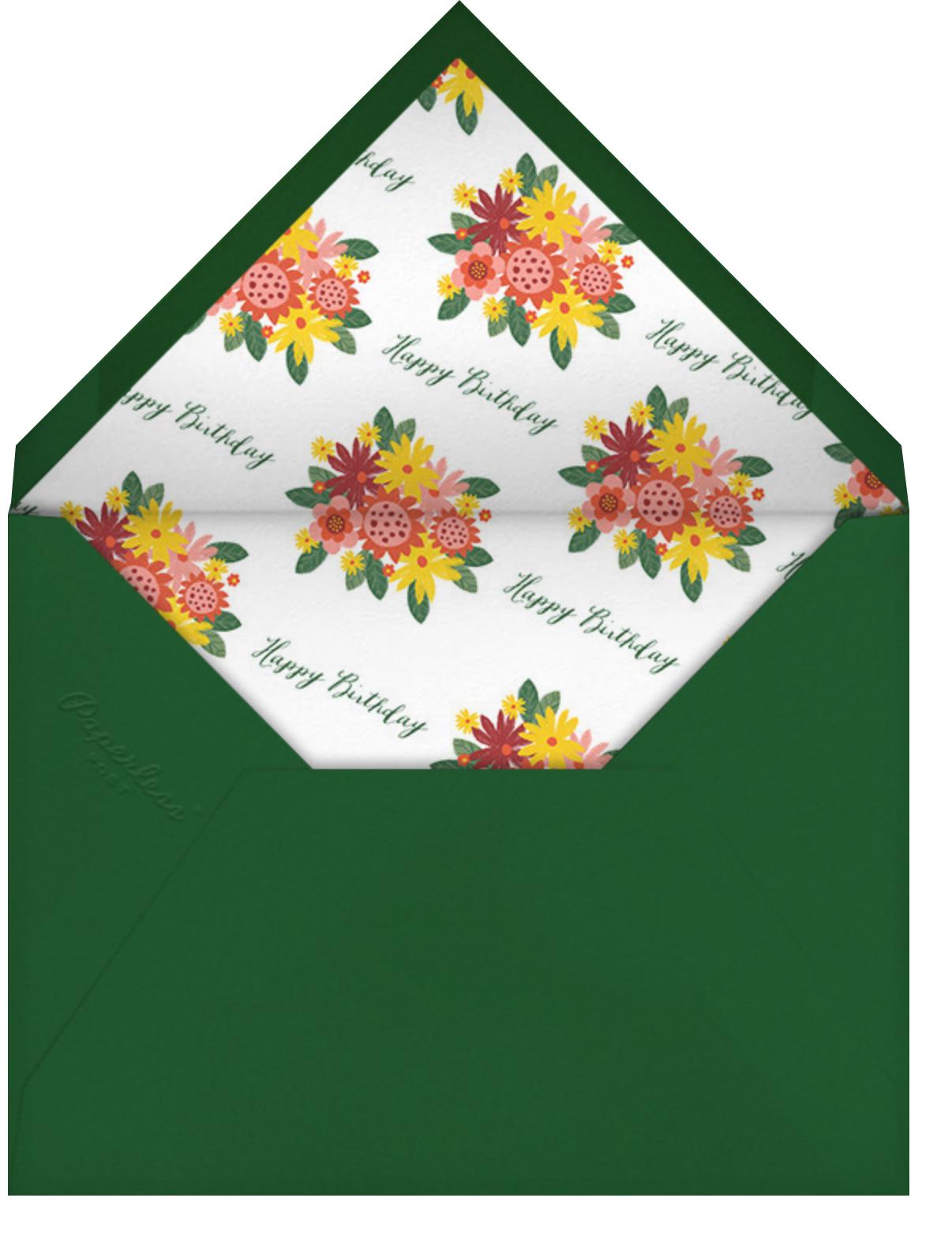 Sanitized Bouquet - White - Paperless Post - Birthday - envelope back