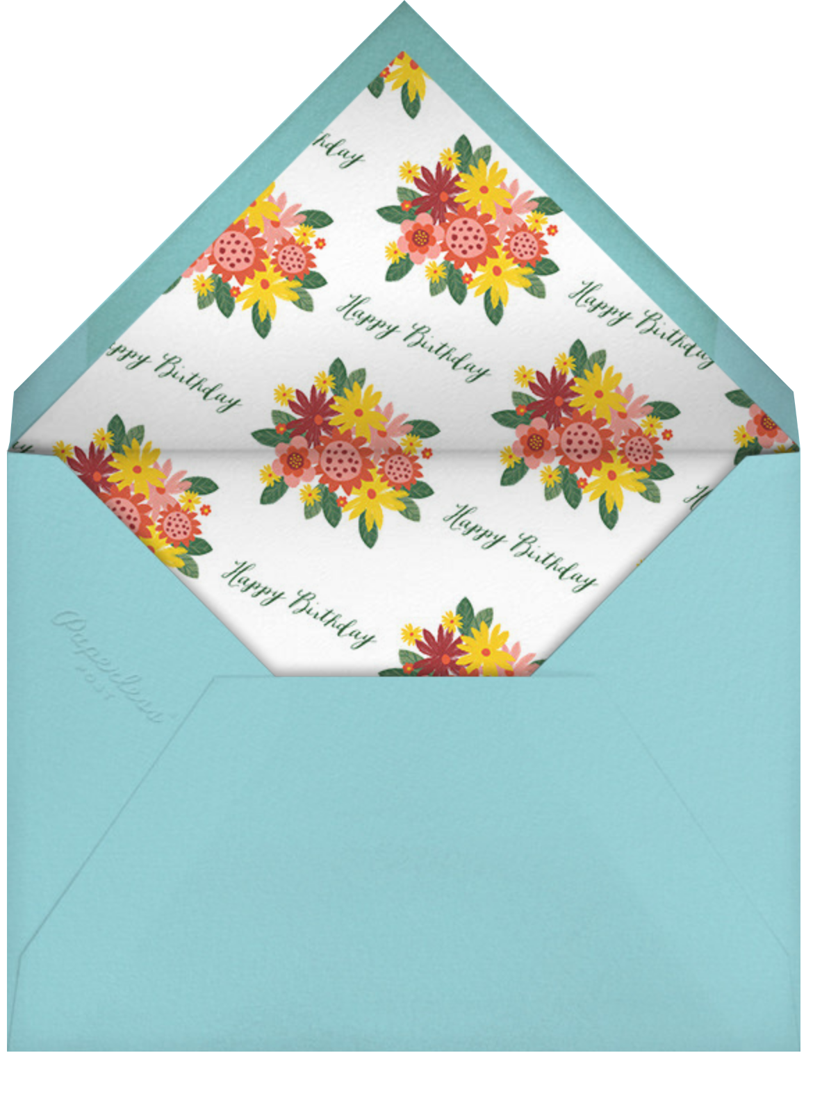 Sanitized Bouquet - Navy - Paperless Post - Birthday - envelope back