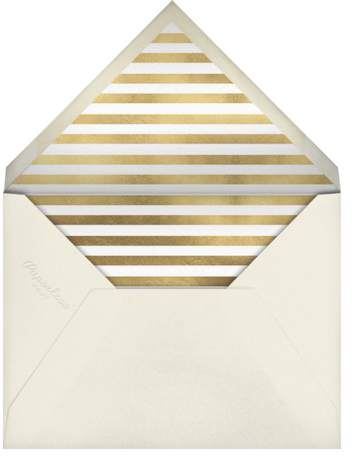 Confetti New Year (Greeting) - Gold/Cream - kate spade new york - New Year - envelope back