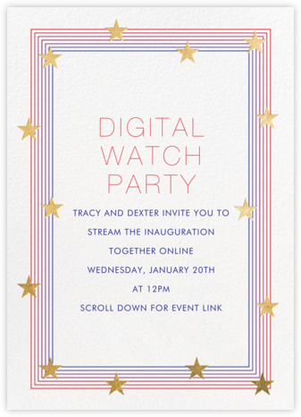 Starry Spectrum - Paperless Post - Inauguration Invitations