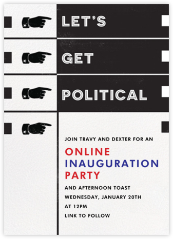 Let's Get Political - Paperless Post - Inauguration Invitations