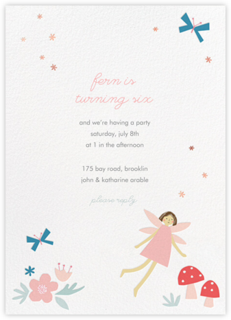 Fairy Nice - Light - Meri Meri - Birthday invitations