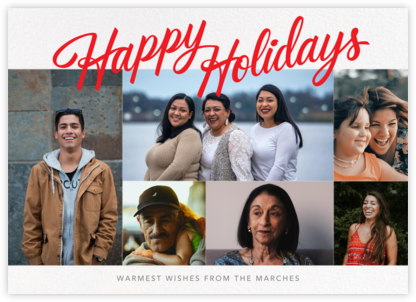 Holiday Classic (Horizontal, 6 Photos) - Paperless Post - Holiday Cards