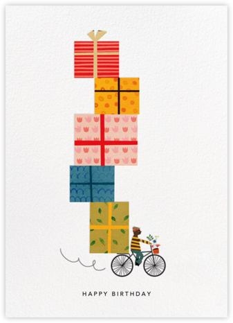 Birthday Bike (Blanca Gómez) - Deep - Red Cap Cards - Online Greeting Cards