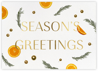 Orange Potpourri - Greetings - Paperless Post - Holiday Cards