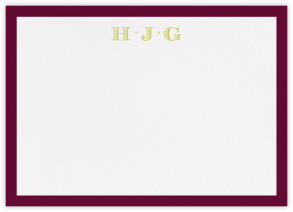 Pimlico - Merlot - Paperless Post - Personalized Stationery