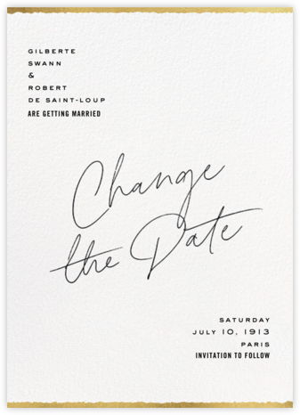 Change of Plans - Paperless Post - Modern save the dates