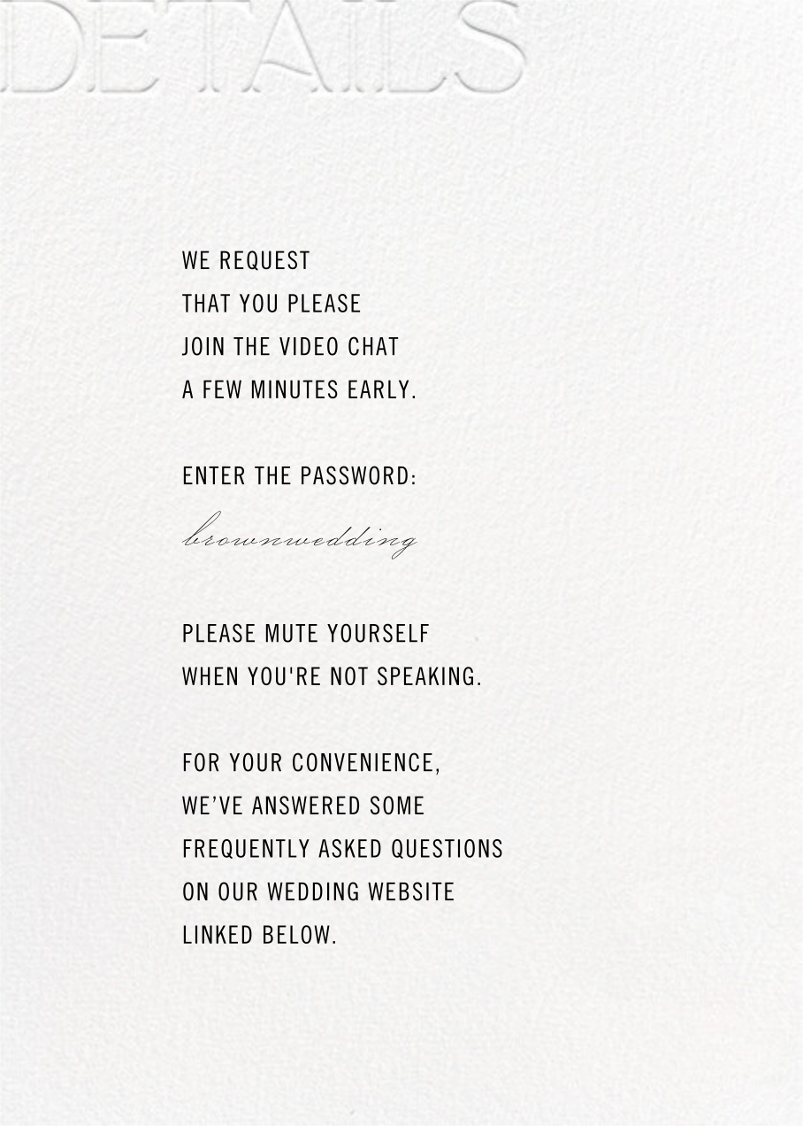 Virtual Vows - White - Paperless Post - All - insert front