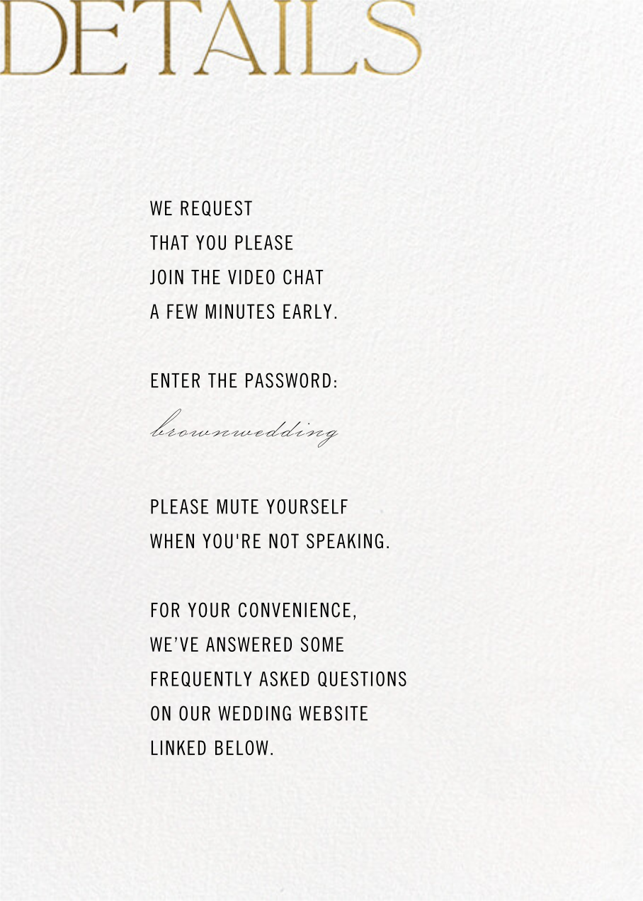 Virtual Vows - Gold - Paperless Post - All - insert front