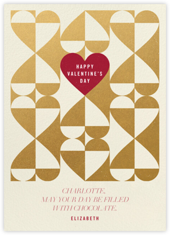 Balanced Hearts - Gold - Paperless Post - Valentine's Day Cards