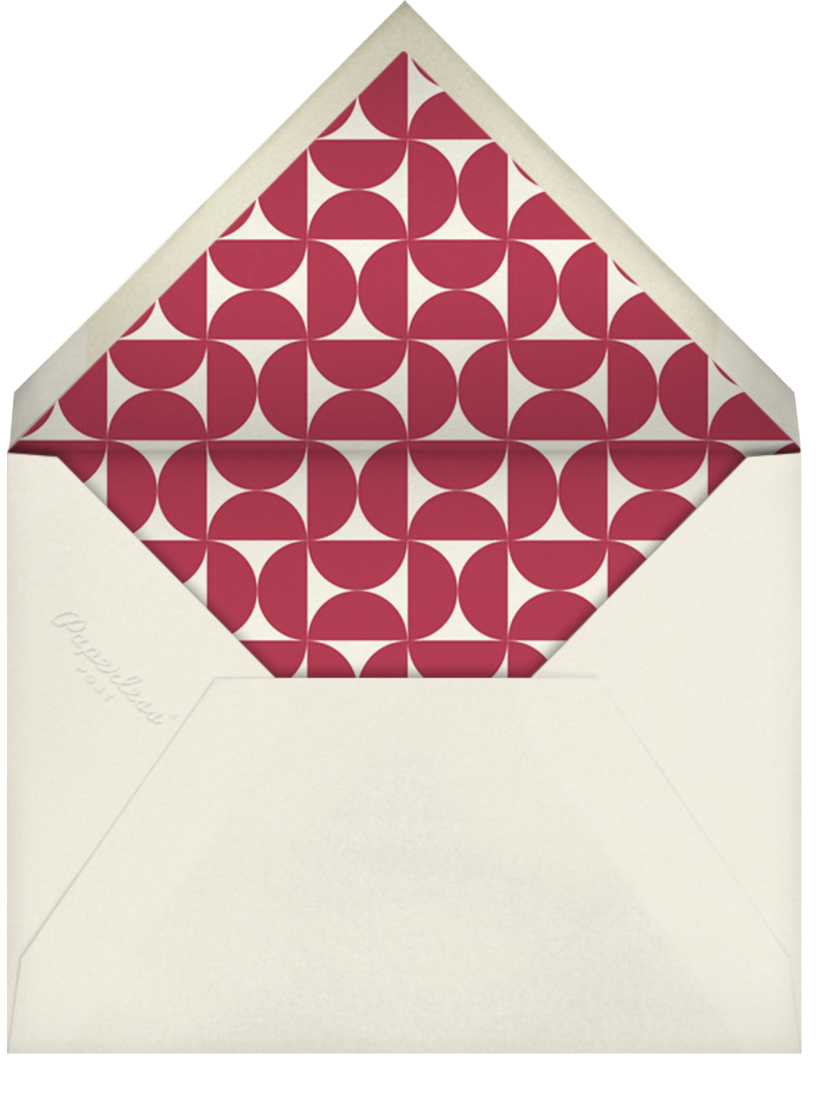 Balanced Hearts - Pink - Paperless Post - Valentine's Day - envelope back
