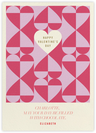 Balanced Hearts - Pink - Paperless Post - Valentine's Day Cards