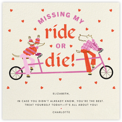 Tandem Love - Paperless Post - Valentine's Day Cards