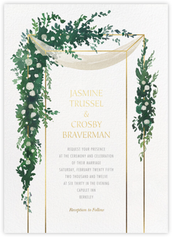 Lush Canopy - Paperless Post - Wedding Invitations