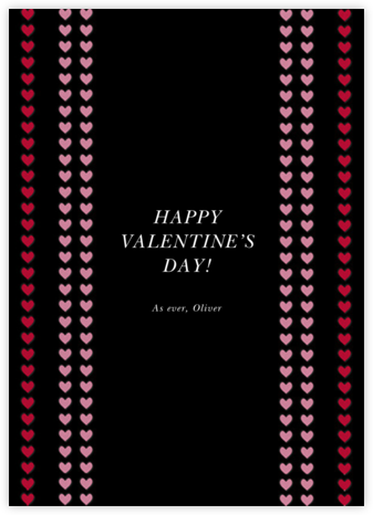 Love Chain - Black - kate spade new york - Valentine's Day Cards