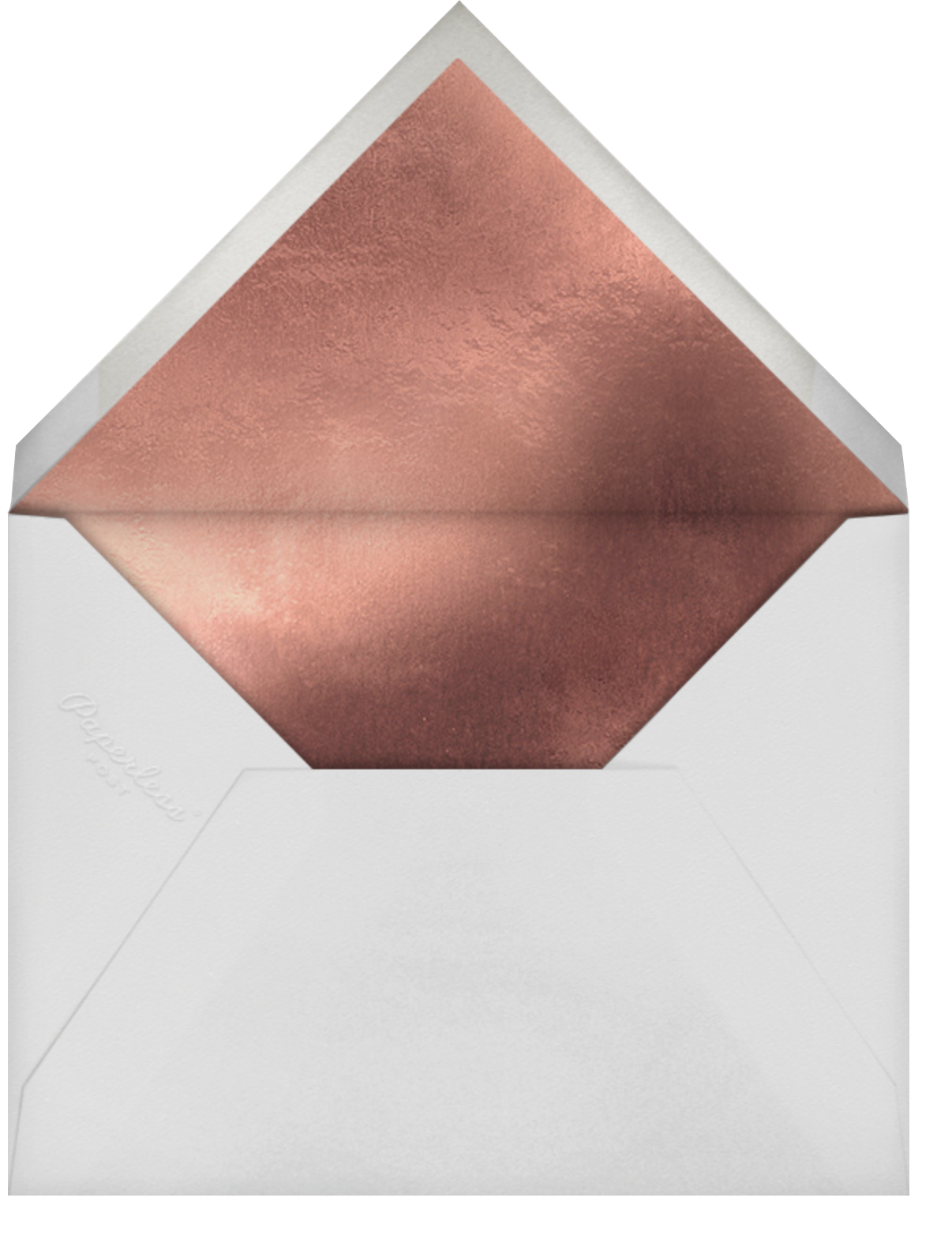 Golden Hearts - Rose Gold - kate spade new york - Save the date - envelope back