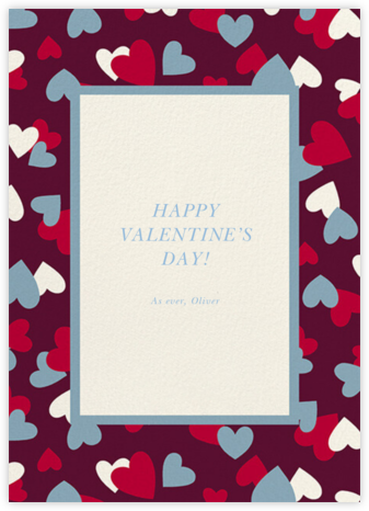 Falling Hearts - Merlot - kate spade new york - Valentine's Day Cards