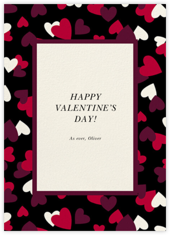 Falling Hearts - Black - kate spade new york - Valentine's Day Cards