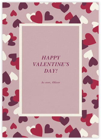 Falling Hearts - Tea Rose - kate spade new york - Valentine's Day Cards