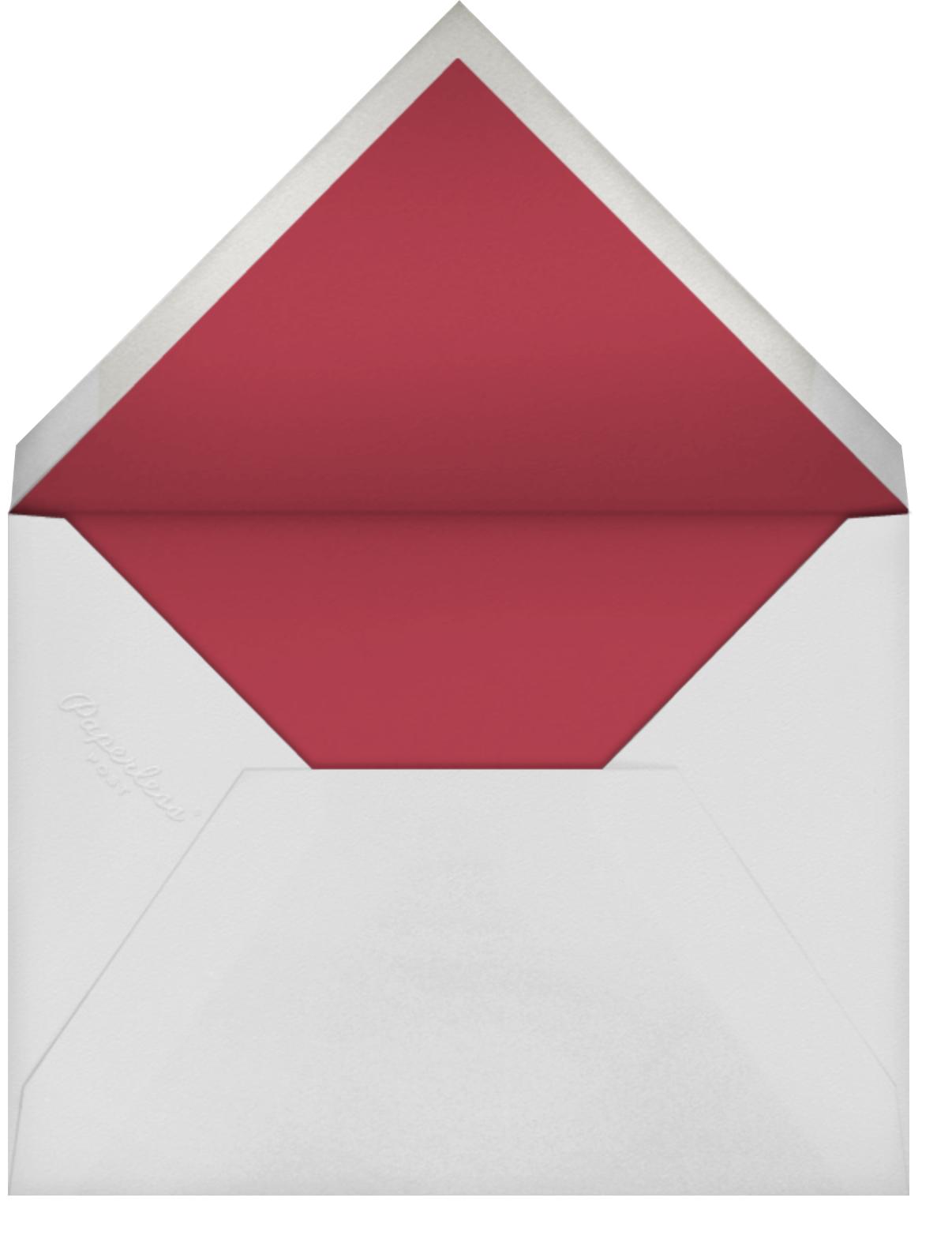 Falling Hearts Photo - Merlot - kate spade new york - Valentine's Day - envelope back