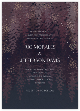 Violette (Invitation) - Dusk - Paperless Post - Wedding Invitations