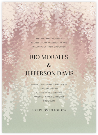 Violette (Invitation) - Dawn - Paperless Post - Wedding Invitations