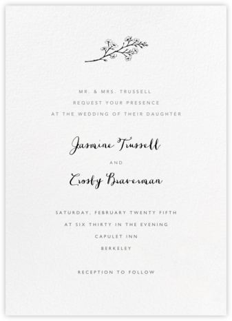White (Tall) - Paperless Post - Wedding Invitations