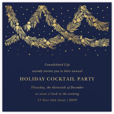 Holiday Drape - Navy - Paperless Post - Company holiday party