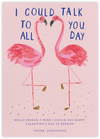Flamingo On - Mr. Boddington's Studio - Valentine's Day Cards