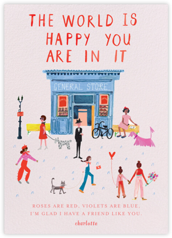 Glad You're Here - Sweet Pea - Mr. Boddington's Studio - Valentine's Day Cards