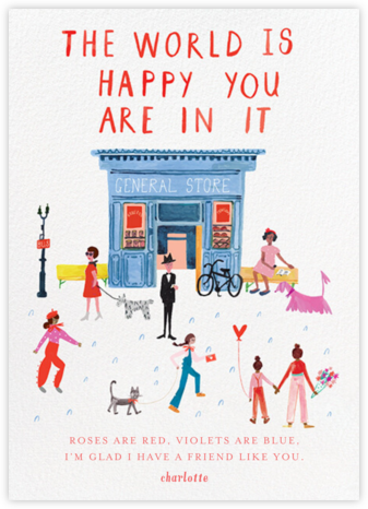Glad You're Here - White - Mr. Boddington's Studio - Just Because Cards