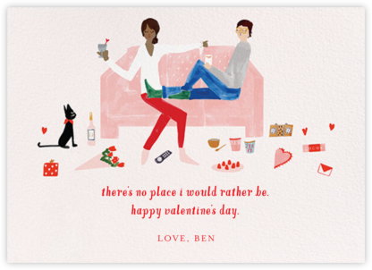 Love Seat - Tan/Fair - Mr. Boddington's Studio - Valentine's Day Cards