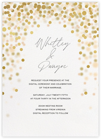 Sparkle Lights (Invitation) - White - Paperless Post - Virtual Wedding Invitations