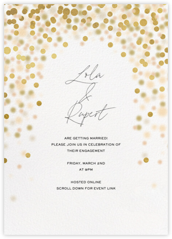 Sparkle Lights - White - Paperless Post - Engagement party invitations