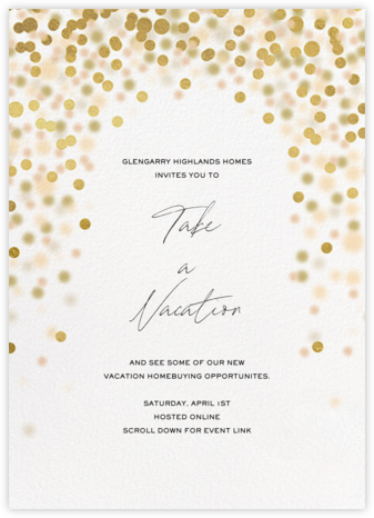 Sparkle Lights - White - Paperless Post - Launch Party Invitations