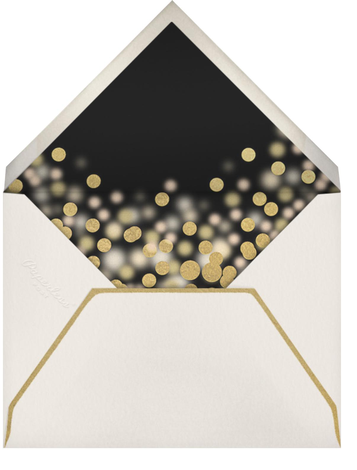 Sparkle Lights (Invitation) - Black - Paperless Post - New Year's Eve - envelope back