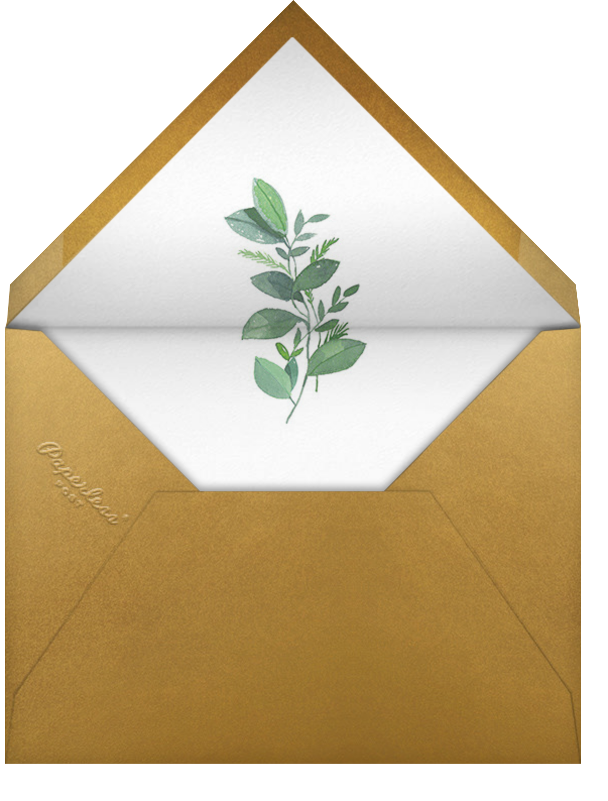 Natural Wreath (Invitation) - Paperless Post - All - envelope back